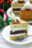 Festive Christmas cake caramel biscuit Royalty Free Stock Photos