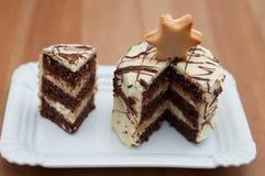 Festive Christmas Cake Royalty Free Stock Image