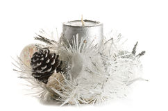 Festive Christmas Candle Ornament Royalty Free Stock Images