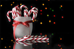 Festive Christmas candy canes Royalty Free Stock Photos