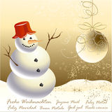 Festive Christmas card. Festive Christmas greeting card for you Royalty Free Stock Photography