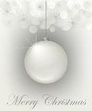 Festive Christmas card. Magic and silver festive Christmas card Royalty Free Stock Photos