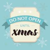 Festive Christmas card Stock Photography