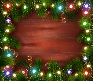 Festive Christmas Celebrating Template  Royalty Free Stock Photography