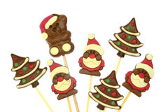 Festive Christmas chocolate royalty free stock image