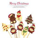 Festive Christmas chocolate Royalty Free Stock Images