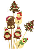 Festive Christmas chocolate stock images