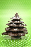 Festive Christmas chocolate tree Stock Images