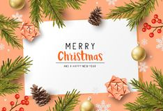 Festive Christmas Composition Background royalty free illustration