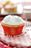 Festive christmas cupcake Royalty Free Stock Photography