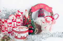 Festive Christmas decorations Royalty Free Stock Images