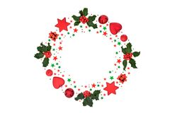 Festive and Fun Christmas Decorative Abstract Wreath