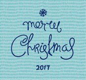 Festive Christmas design. Retro Christmas card. Hand-drawn greetings calligraphy composition Stock Photography