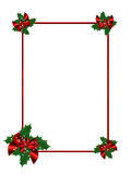 Festive Christmas frame stock photos