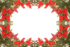 Festive Christmas frame Stock Image