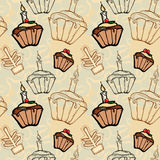 Festive Christmas fruitcakes Stock Images