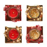 Festive Christmas gel candle isolated Royalty Free Stock Photos