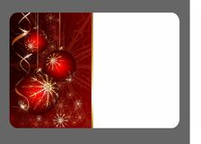 Festive Christmas gift card Stock Images
