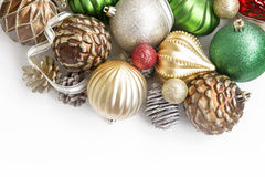 Festive Christmas Globes Royalty Free Stock Photography