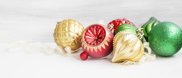 Festive Christmas Globes Royalty Free Stock Images
