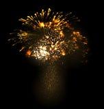 Festive Christmas grandiose firework explode Royalty Free Stock Photos