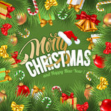 Festive Christmas Greeting Card Royalty Free Stock Images