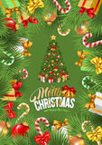 Festive Christmas Greeting Card Royalty Free Stock Image