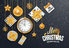 Festive Christmas Greeting Card Royalty Free Stock Photography