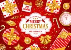 Festive Christmas Greeting Card Stock Photo