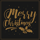 Festive Christmas greeting card. Merry Christmas. Festive Christmas greeting card Stock Image