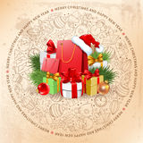 Festive Christmas Greeting Card Stock Images