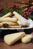 Festive Christmas holiday shortbread. Royalty Free Stock Photography
