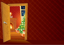 Festive Christmas interior Stock Photo
