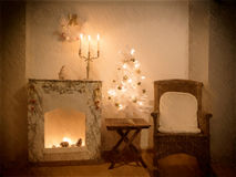 Festive Christmas interior. Royalty Free Stock Photography