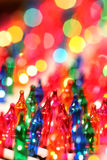 Festive christmas lights Stock Image