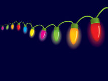 Festive christmas lights Stock Photography