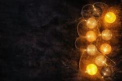 Festive Christmas lights. On dark background Stock Photography