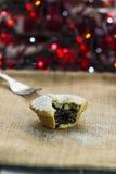 Festive Christmas mince pie Stock Photography