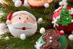 Festive Christmas mini dessert Royalty Free Stock Photos
