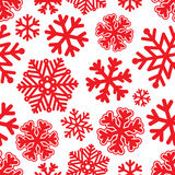 Festive Christmas and New Year seamless snoflakes pattern Stock Photo