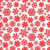 Festive Christmas and New Year seamless snoflakes pattern Stock Photography