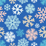 Festive Christmas and New Year seamless snoflakes pattern Royalty Free Stock Photos