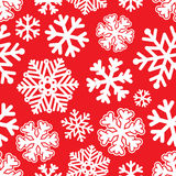 Festive Christmas and New Year seamless snoflakes pattern Stock Images