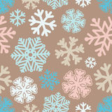 Festive Christmas and New Year seamless snoflakes pattern. Vector illustration Festive Christmas and New Year seamless snoflakes pattern Stock Photography
