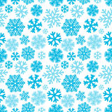 Festive Christmas and New Year seamless snowflakes pattern. Blue Royalty Free Stock Photo