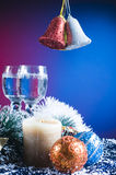Festive Christmas objects Stock Photography