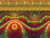 Festive christmas pattern, digital fractal art Royalty Free Stock Images
