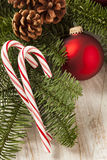 Festive Christmas Peppermint Candy Cane Royalty Free Stock Photography