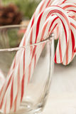 Festive Christmas Peppermint Candy Cane Stock Images