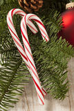 Festive Christmas Peppermint Candy Cane Royalty Free Stock Image
